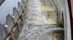 Sewage treatment plant - Waste water treatment  (circular sedimentation tank) 8 Stock Footage