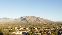 Time lapse: Dusk falling over Santa Catalina mountains, Tucson, Arizona Stock Footage