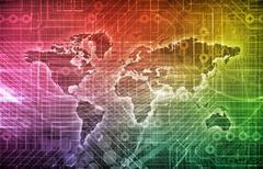 Global subscription Stock Illustration