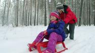 Stock Video Footage of Winter Fun
