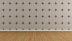 Brown empty room Stock Illustration