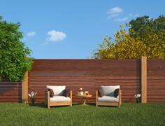 Stock Illustration of relaxation in the garden