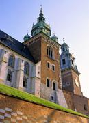 Poland, krakow, wawel, cathedral towers Stock Photos