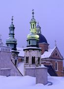 poland, krakow, st peter & st paul church and andrew church at grodzka street - stock photo