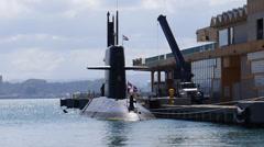 HNMLS DOLFIJN S808 Dutch Netherlands Royal Navy combat submarine 4/13 Stock Footage