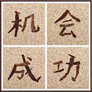 Concept chinese characters for chance and success Stock Photos