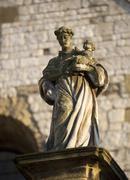 Poland, krakow, st andrew's church, detail Stock Photos