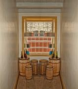 tiny storage room - stock photo