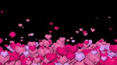 Hearts Transition Up Stock Footage