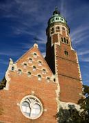 poland krakow, church of jesuit - stock photo