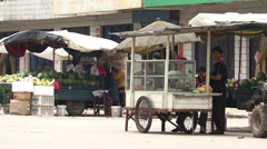 A busy rural town in China Stock Footage