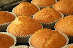 Muffins with vanilla flavour Stock Photos