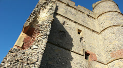 Castle ruins dolly Stock Footage