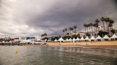 Cannes Film Festival time lapse Stock Footage