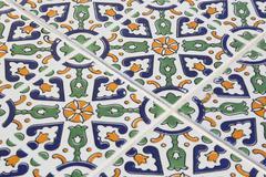 tunisian style tile pattern - background - stock photo