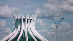 Cathedral of Brasilia - Capital of Brazil Stock Footage