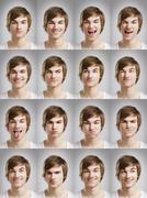 young man portraits - stock photo
