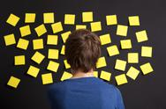 Stock Photo of looking to yellow reminders