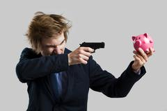 killing the economy - stock photo