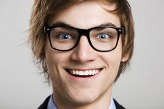 crazy nerd - stock photo