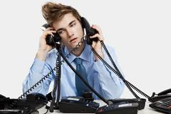 Answering calls Stock Photos