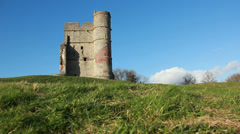 Castle on top of hill (dolly) Stock Footage