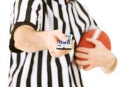 Stock Photo of referee: ready to change channels