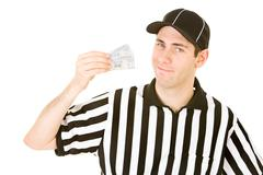 Referee: ref has pair of tickets Stock Photos