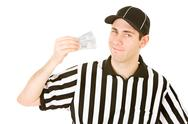 Stock Photo of referee: ref has pair of tickets