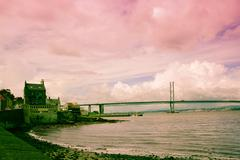 The forth road bridge, queensferry, scotland Stock Photos