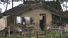 A villagers home in rural China near Yangzhou Stock Footage