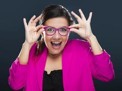 funny woman - stock photo