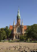 poland krakow, podgorze district, st josef's church - stock photo