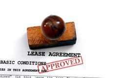 Lease agreement - approved Stock Photos