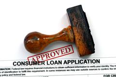 Loan form - approved Stock Photos