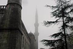 Foggy Mosque - stock photo