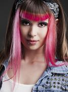 punk girl - stock photo