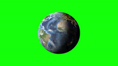 Stock Video Footage of Planet Earth Green Screen - day to night loop animation