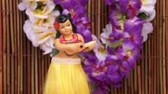 4K Hula Girl Dancer Doll Stock Footage