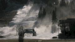 Squaw Valley Snow Making Stock Footage