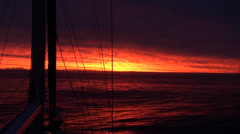 CARIBEAN SUNSET FROM A YACHT - stock footage