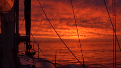 CARIBEAN SUNSET FROM A YACHT 2 - stock footage