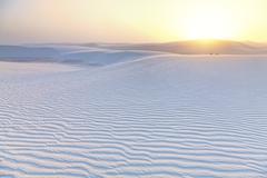 White sands sunset Stock Photos