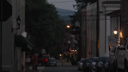 Stock Video Footage of people walking downtown summer evening