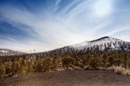 Stock Photo of sunset crater