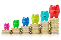 successful financial growth - stock photo