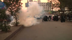 Karachi Police Fire Teargas to Disperse Women Protesters Stock Footage