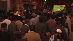 Karachi Streets Crowded with Protesters and Police Stock Footage