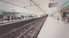 Metro Station Timelapse Background, HD Stock Footage