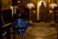 Night-light in church Stock Photos
